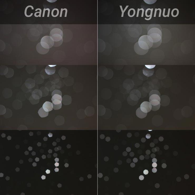 Bokeh comparison YN50mm f/1.8 vs Canon 50mm f/1.8 II