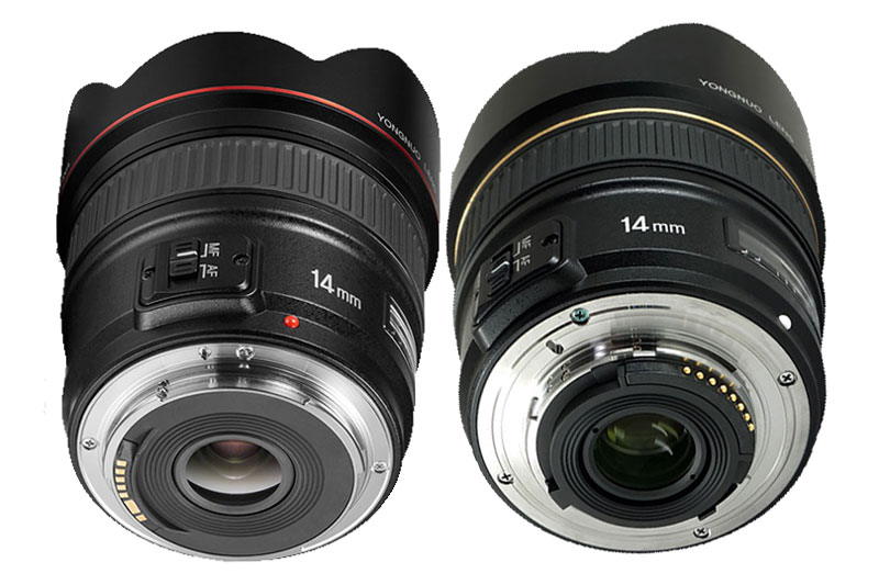 Comparison YN14mm Canon vs Nikon