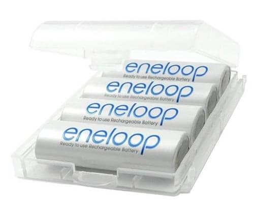 Eneloop batteries and case
