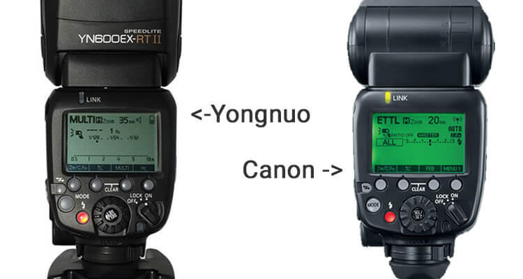 Comparison YN600EX-RT-II vs Canon 600EX-II-RT