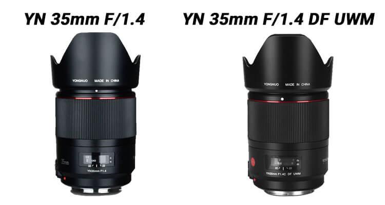 comparison between the YN35mm f/1.4 and the YN35mm F/1.4 DF UWM